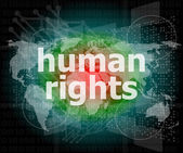 Law concept: words human rights on digital background — Stock Photo