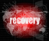 Information concept: word recovery on digital background — Stock Photo