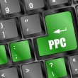 PPC (Pay Per Click) Concept. Button on Modern Computer Keyboard — Stock Photo #40062859