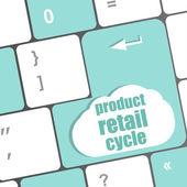 ürün perakende satış döngüsü anahtar yerine anahtarı girin — Foto de Stock