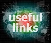 SEO web design concept: useful links on digital background — Stock Photo