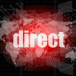 Stock Photo: Business concept: word direct on digital background