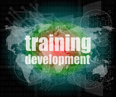 Education and learn concept: Training Development on digital screen — Stock Photo
