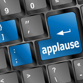 Business concept: applause words on keyboard keys — Stock fotografie