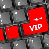 VIP written on keys on computer keyboard — Stock Photo