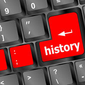 History button on computer keyboard pc key — Zdjęcie stockowe