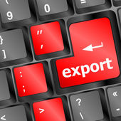 Export word on computer keyboard key button — Stock Photo