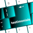 Stock Photo: Testimonial word on keyboard key, notebook computer button