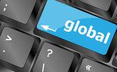 Global taste auf der tastatur - geschäftskonzept — Stockfoto