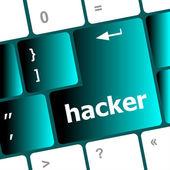 Hacker button on computer keyboard key — Stock Photo