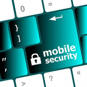 Mobile security key on the keyboard of laptop computer — Stock fotografie