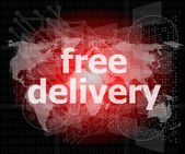 Free delivery word on a virtual digital background — Stock Photo
