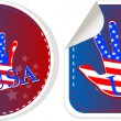 Stock Photo: Set of US presidential election stickers in 2012
