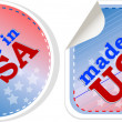Stickers label tag icon set - made in usa — Stock fotografie