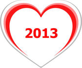 Marketing concept, 2013 on love heart on white — Foto Stock