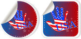 Set of US presidential election stickers in 2012 — Stock Photo