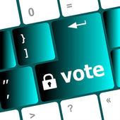 Vote button on computer keyboard key — Stock Photo
