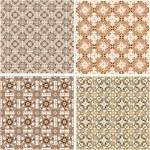 Seamless patterns set in islamic style — Stock Photo