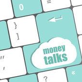 Peníze rozhovory na počítačové klávesnici klíčové tlačítko — Stock fotografie