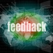 Informationstechnologie It Konzept: Worte Feedback am Bildschirm — Stockfoto #40995551