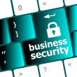 Business security key on the keyboard of laptop computer — Stock Photo #41002625