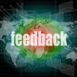 Information technology IT concept: words Feedback on screen — Stockfoto #41055475
