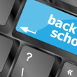 Stock Photo: Back to school key on computer