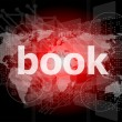 Book word on digital touch screen — Stockfoto