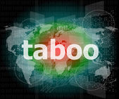 Security concept: words taboo is a marketing on digital screen — Stock Photo
