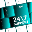 Stock Photo: Support sign button on keyboard keys