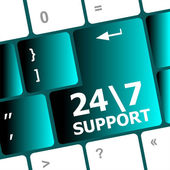 Support sign button on keyboard keys — Stock Photo