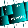 Stock Photo: Events button on keyboard - holiday concept