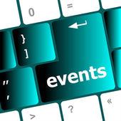 键盘-假日概念上的事件按钮 — 图库照片