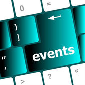 Botón de eventos del teclado - concepto de vacaciones — Foto de Stock