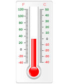 Thermometer. Celsius and Fahrenheit — Stock Photo