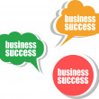 Stock Photo: Business success. Set of stickers, labels, tags. Business banners, Template for infographics