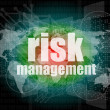 Management concept: words Risk management on digital screen — Stock Photo #41446517