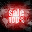 Stock Photo: Sale percentage on business digital touch screen