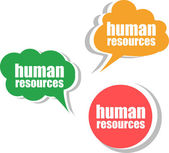 Human resources . Set of stickers, labels, tags. Template for infographics — Stock Photo