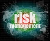Management concept: words Risk management on digital screen — Stock Photo