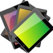Set of tablet pc computers — Stock Photo