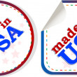 Stickers set Made in USA, web icon — Stock Photo