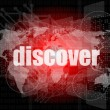 Stok fotoğraf: Social concept: word discover on digital background