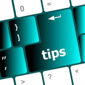 Keyboard key, tips button on computer pc icon — Stock Photo