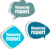 Financial report. Set of stickers, labels, tags. Template for infographics — Stock Photo