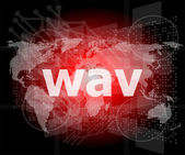 Digital concept: wav word on digital screen — Stock Photo