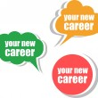 Your new career. Set of stickers, labels, tags. Business banners, Template for infographics — Stock Photo