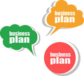 Business plan. Set of stickers, labels, tags. Business banners, Template for infographics — Stock Photo