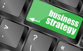 Business strategy - business concepts on computer keyboard, business concept — ストック写真