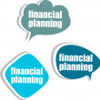 Financial planning. Set of stickers, labels, tags. Business banners, Template for infographics — Stock Photo